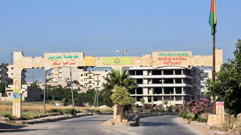 Recep Tayyip Erdoğan: Zufahrt in die Stadt Afrin im Norden Syriens