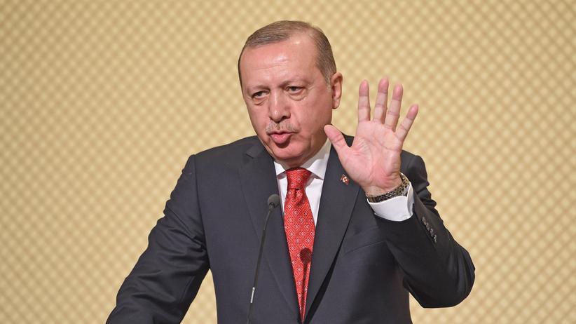 Hakan Atilla: Der türkische Präsident Recep Tayyip Erdoğan spricht auf einer Pressekonferenz.