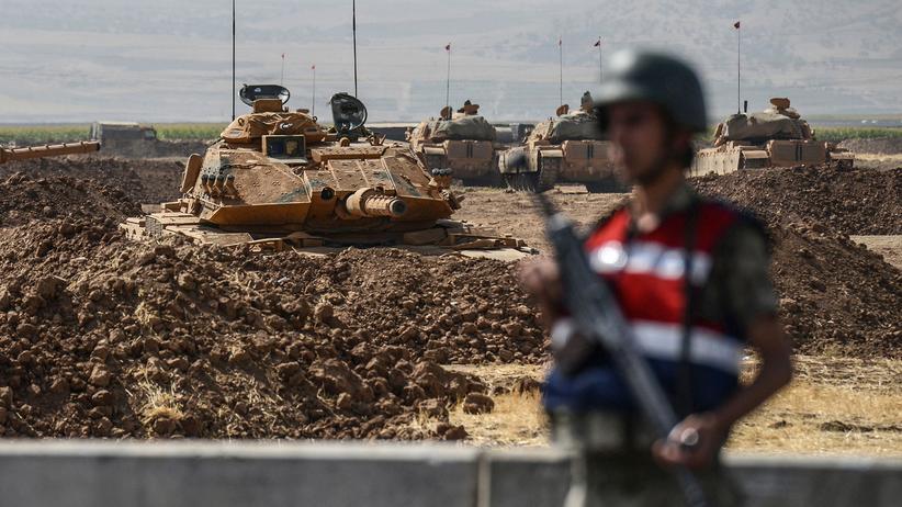 Offensive im Irak: Türkische Soldaten während eines Manövers in der Nähe der Grenze zum Irak