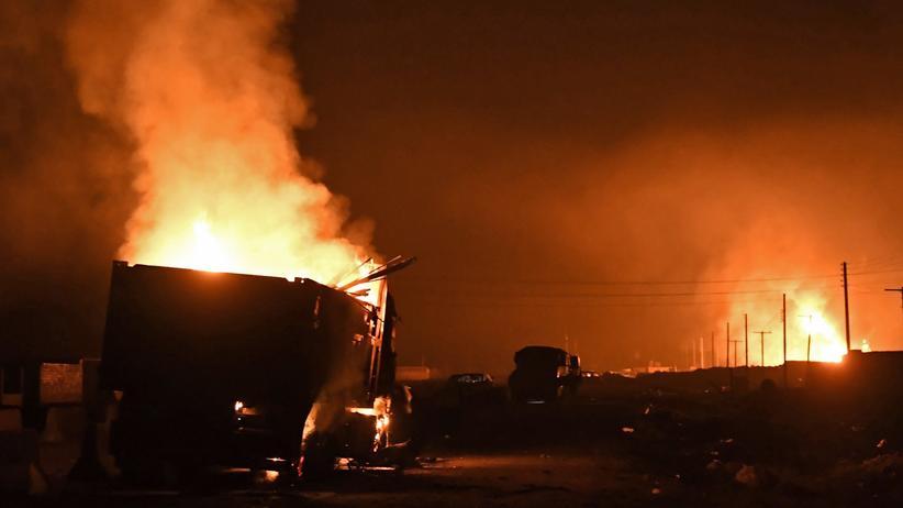 Syrien: Türkische Artillerie feuert auf Konvoi bei Afrin