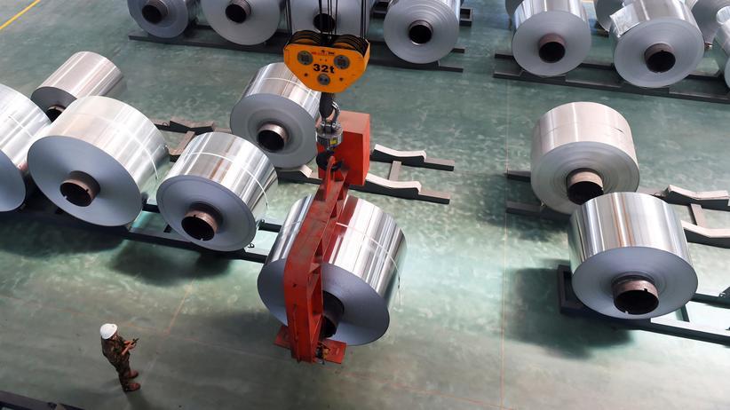 US-Handelspolitik: Eine Aluminium-Fabrik in der ostchinesischen Provinz Shandong.