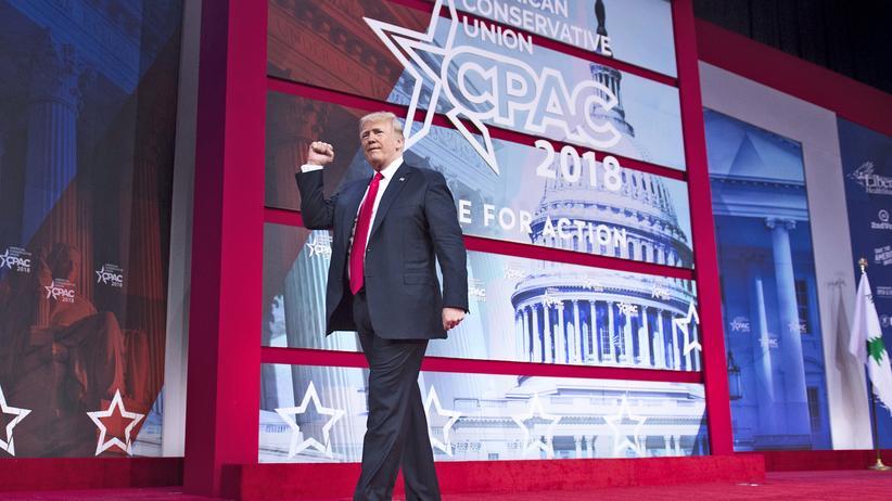 CPAC-Konferenz: US-Präsident Donald Trump auf der Conservative Political Action Conference (CPAC) in Maryland