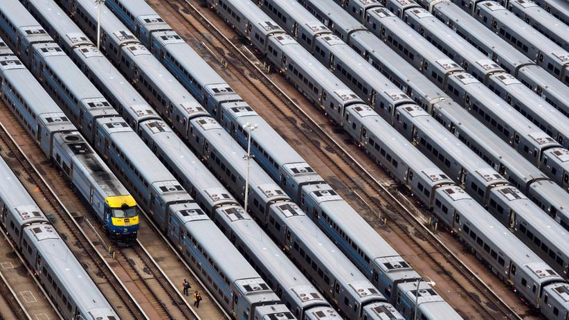 USA: Züge in einem Depot in New York im November 2017