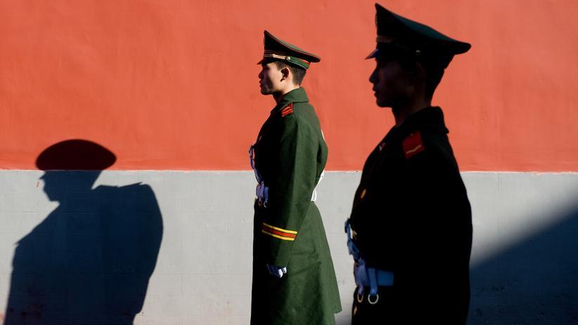 China: Chinesische Polizisten in Peking