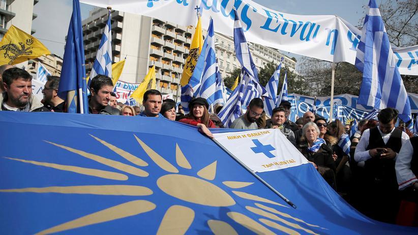 Griechenland: Hunderttausende demonstrieren gegen Namen von Mazedonien