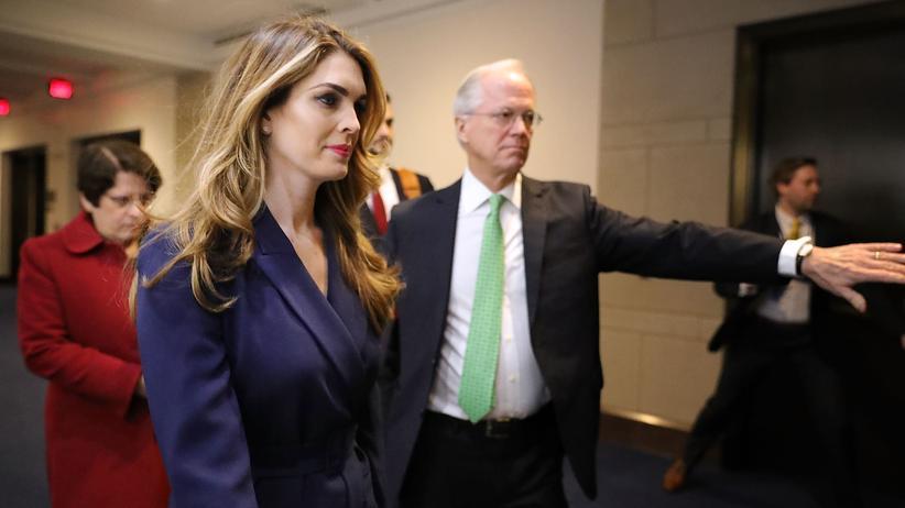Russland-Affäre: Hope Hicks vor der Sitzung des Geheimdienstausschusses im US-Repräsentantenhaus.