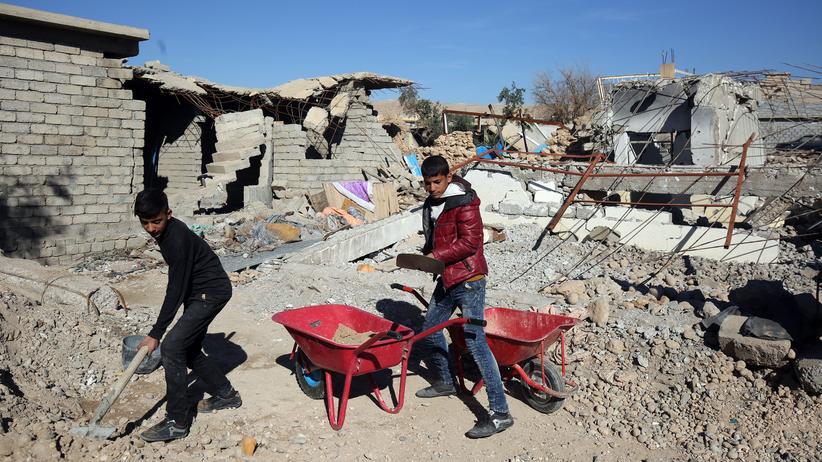 Geberkonferenz: Der IS hat im Irak viele Häuser zerstört. Mühsam versuchen die Menschen, diese wieder aufzubauen.