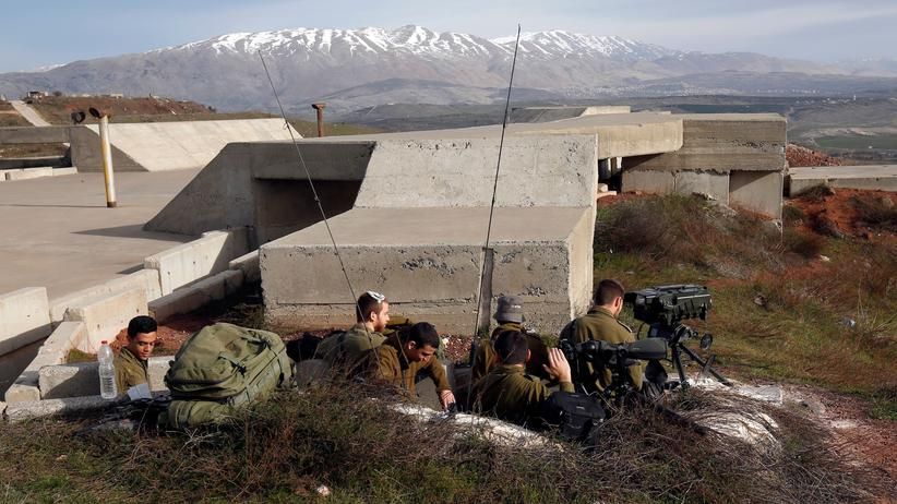 Syrien: Israelische Soldaten in der Nähe der Grenze zu Syrien.