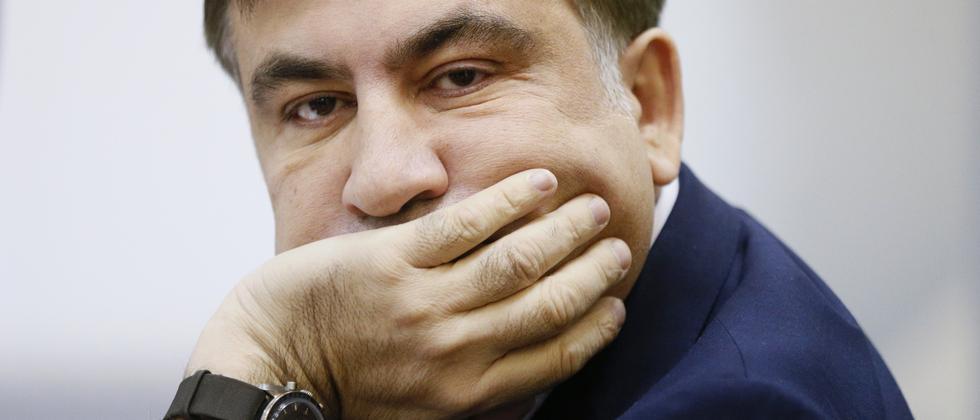 Michail Saakaschwili während einer Gerichtsanhörung in Kiew