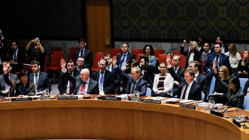 Syrien: Mitglieder des UN-Sicherheitsrats stimmen in New York über eine Waffenruhe in Syrien ab.