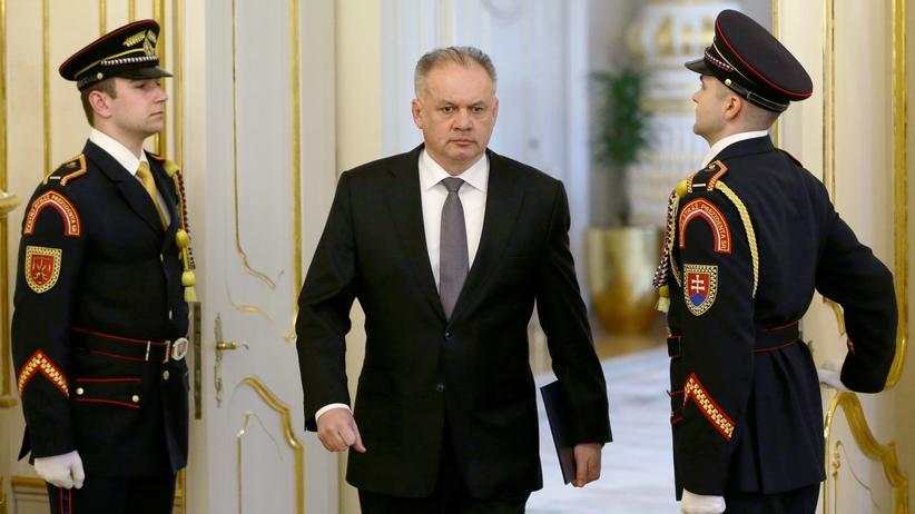 Slowakei: Der Präsident der Slowakei, Andrej Kiska, hat einen ersten Vorschlag für eine Kabinettsumbildung abgelehnt.