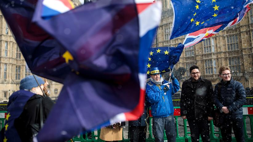 Großbritannien: Anti-Brexit-Demonstranten in London