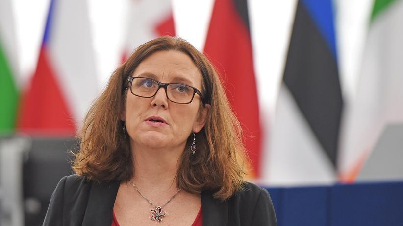 Handelsstreit: EU-Handelskommissarin Cecilia Malmström