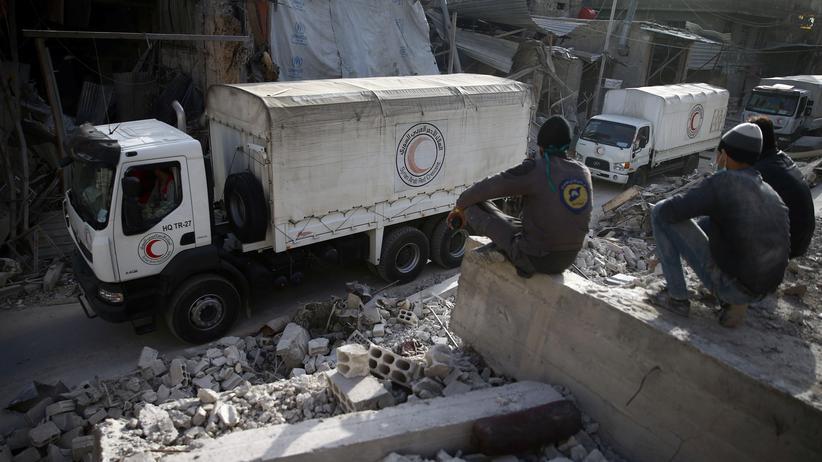 Ostghuta: Hilfskonvoi zieht wegen Beschusses vorzeitig ab