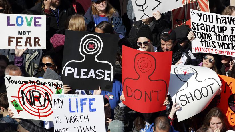 March for Our Lives: Demonstranten beim March for Our Lives in Washington