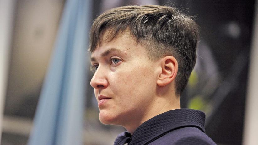 Ukraine: Die ukrainische Abgeordnete und Ex-Soldatin Nadija Sawtschenko