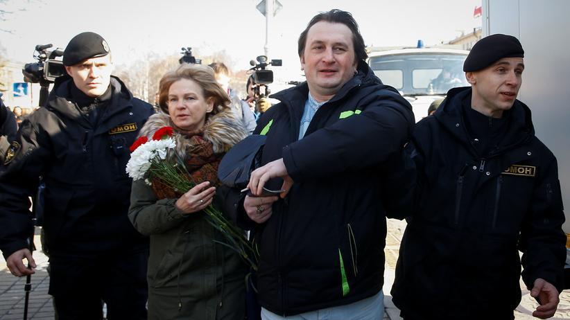 Protest: Dutzende Regimegegner in Weißrussland festgenommen