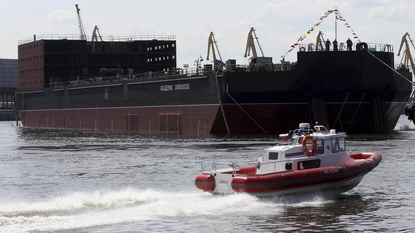 """Atomkraft: Die """"Akademik Lomonossow"""" ist weltweit das einzige Schiff seiner Art."""