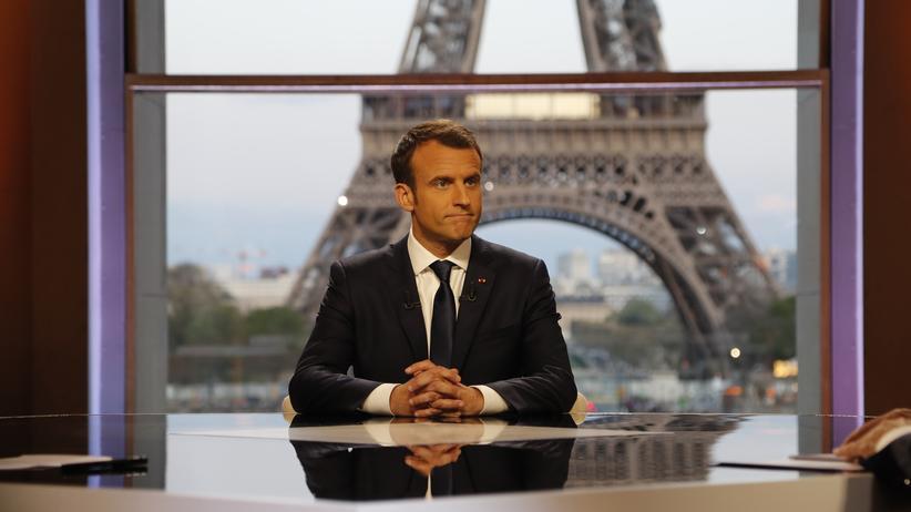 Reformen in Frankreich: Frankreichs Präsident Emmanuel Macron hat die Woche mit einem großen Interview begonnen.