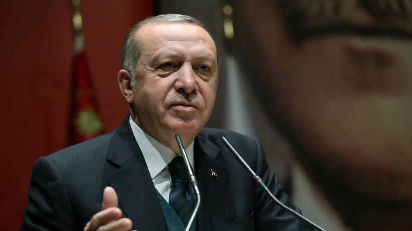 Gaza-Streifen: Der türkische Präsident Erdoğan bei einer Rede in Ankara.