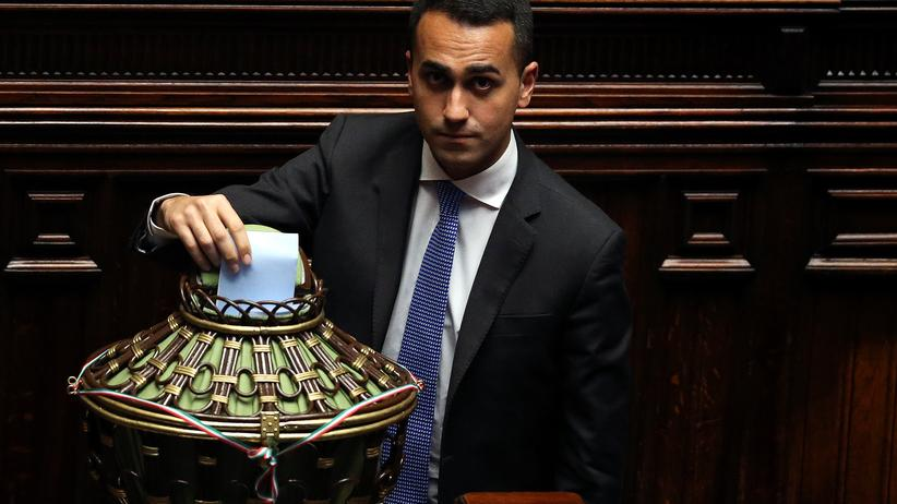 Italien: Der Parteichef der Fünf-Sterne-Bewegung, Luigi Di Maio
