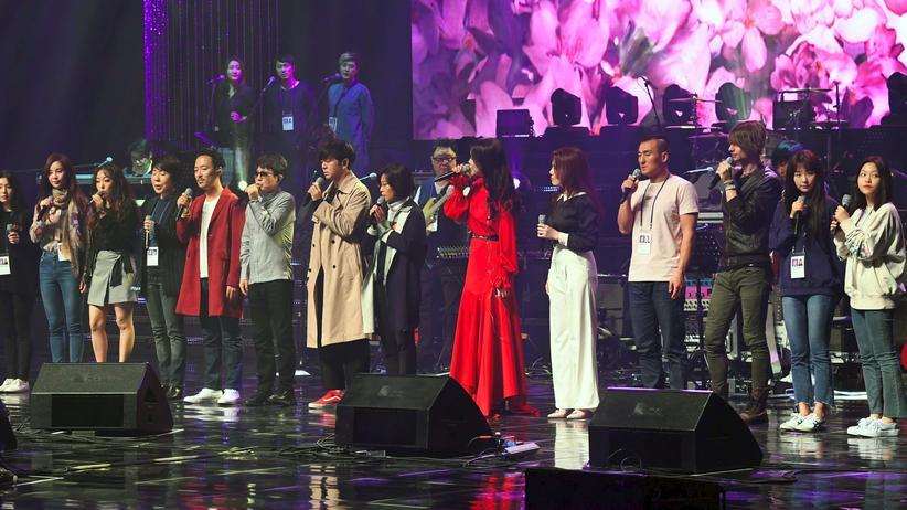 Nordkorea: Südkoreanische Popstars geben Konzert in Pjöngjang