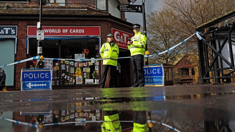 Sergej Skripal: Der Anschlagsort in Salisbury ist weiträumig abgesperrt.