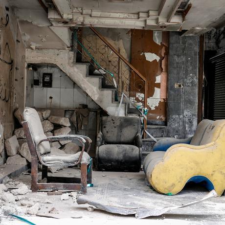 Syrien: Zerstörtes Haus in der Altstadt von Aleppo
