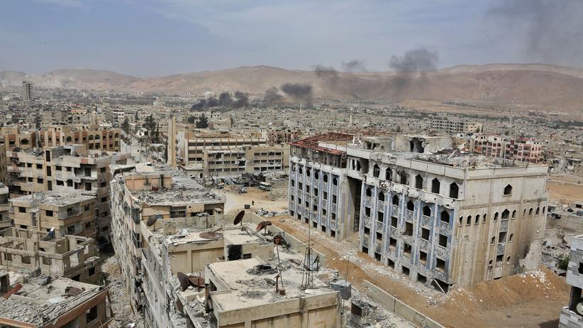 Giftgasangriff: Von den jahrelangen Kämpfen weitestgehend zerstört: die syrische Stadt Duma in der Ostghuta.