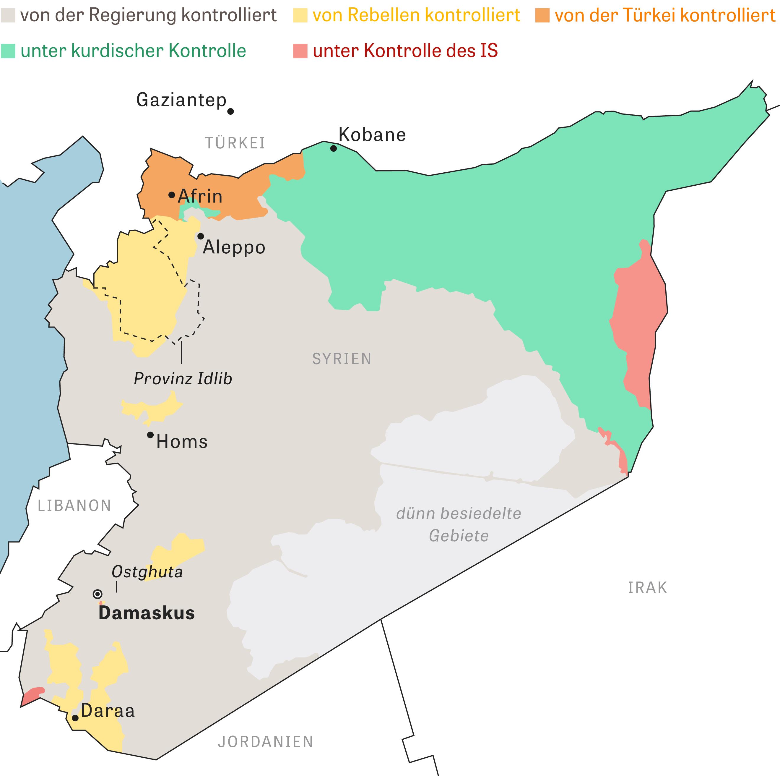 Syrien: Die Situation in Syrien