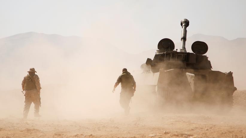 Syrien-Konflikt: Hisbollah-Kämpfer im Qalamun-Gebirge nordöstlich von Damaskus, August 2017