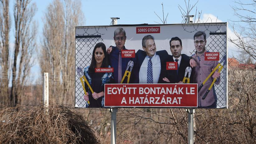 "Ungarn: Regierungsnahe Zeitung diffamiert ""Soros-Leute"""