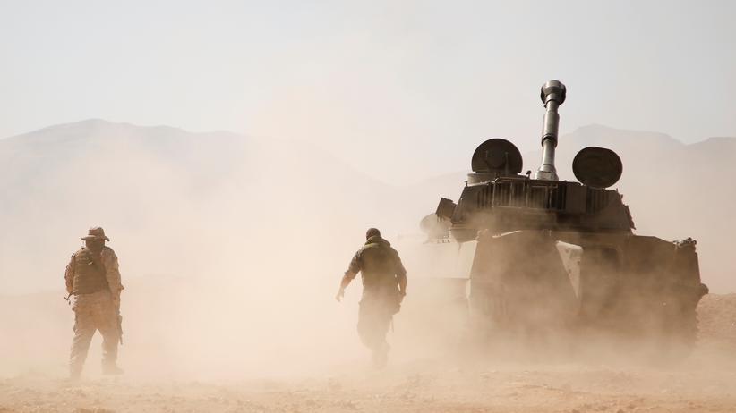 Atomabkommen mit Iran: Kämpfer der libanesischen Hisbollah Miliz in der syrischen Region Westkalamun