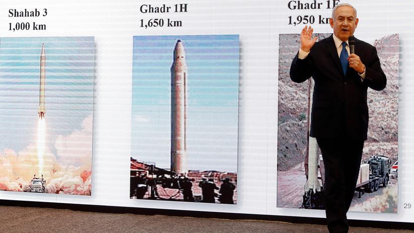 Atomprogramm: Benjamin Netanjahu hat eine Botschaft, und die will er verstanden wissen: Der Iran habe gelogen.