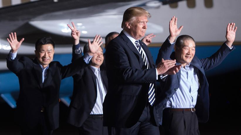 Donald Trump: Freigelassene US-Bürger sind zurück aus Nordkorea
