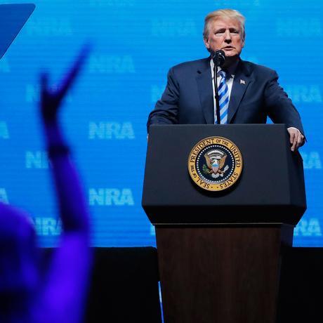Trump bei der NRA: Ein Besuch bei Freunden