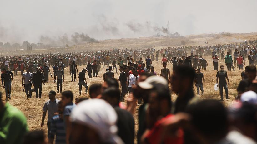 Gewalt im Gazastreifen: Proteste am Grenzzaun zu Israel nahe Gaza-Stadt, Mitte Mai