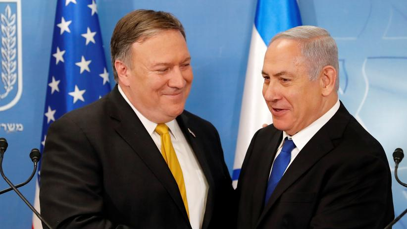 Mike Pompeo: US-Außenminister Mike Pompeo und Israels Ministerpräsident Benjamin Netanjahu