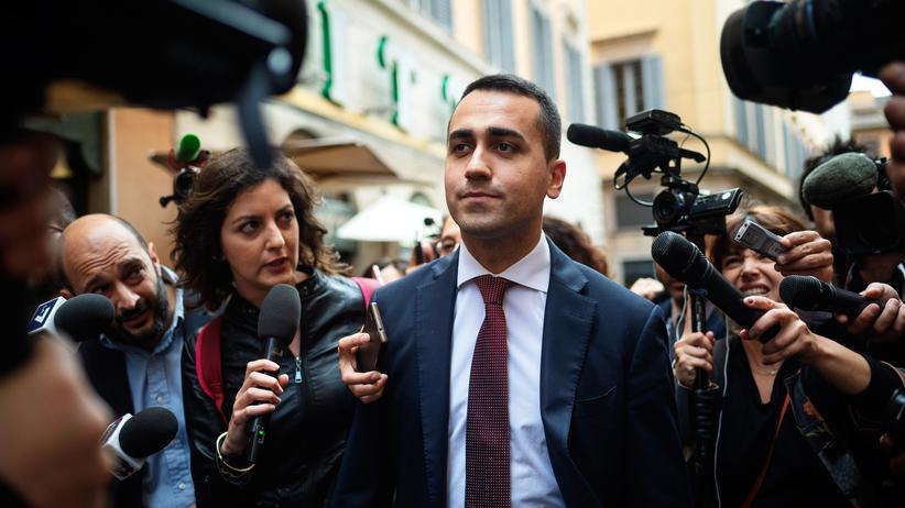 Neuwahlen in Italien: Luigi Di Maio, der Chef der Fünf-Sterne-Bewegung