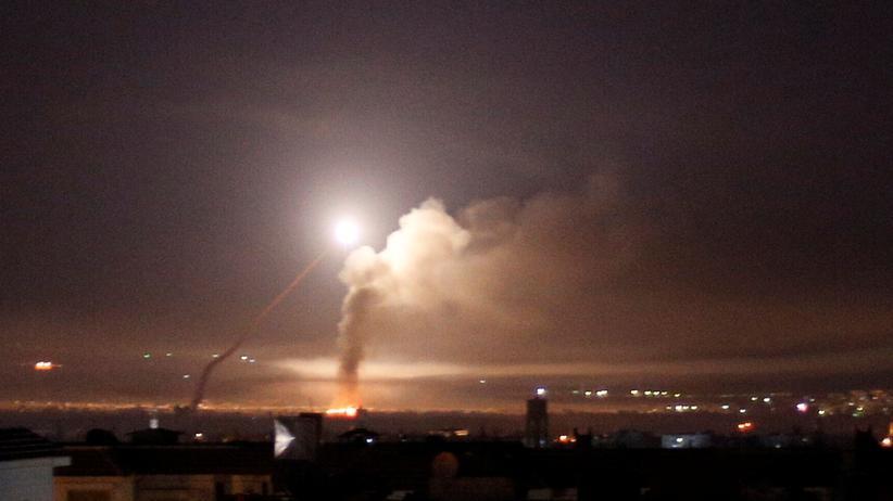Syrien: Ansicht der Feuergefechte am 10. Mai von Damaskus aus