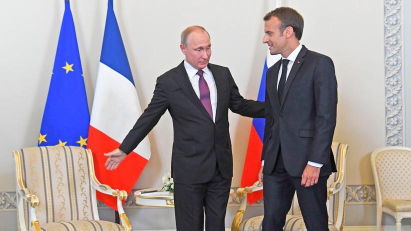 Wladimir Putin und Emmanuel Macron: Russland und Frankreich wollen sich in Syrien-Frage abstimmen