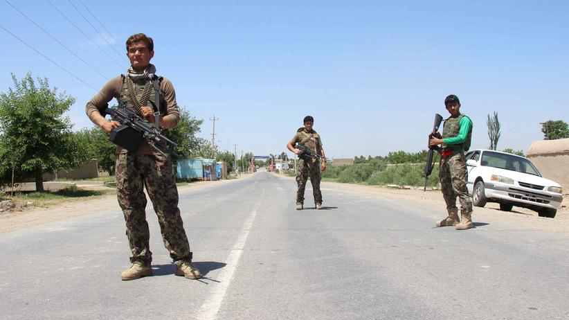 Angriffe in Afghanistan: Afghanische Sicherheitskräfte in Kundus