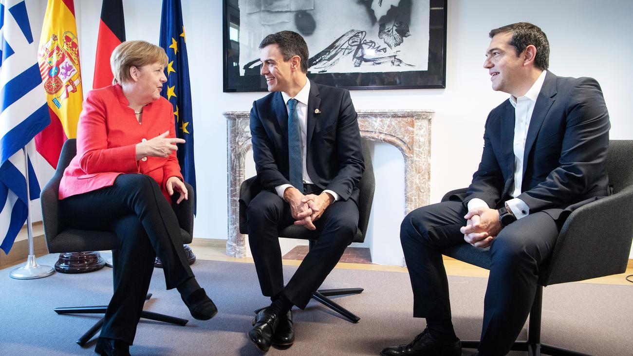 Asylpolitik: Merkel vereinbart Rücknahmeabkommen mit Spanien und Griechenland