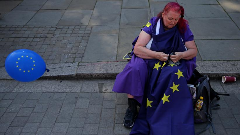Europäische Union: Am Rande einer Demonstration in London: für die EU, gegen den Brexit