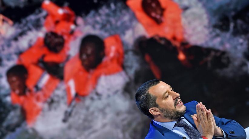 Flüchtlinge: Italiens Innenminister Matteo Salvini von der fremdenfeindlichen Partei Lega