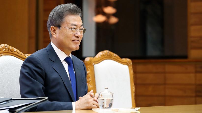 Reaktionen auf Gipfeltreffen: Südkoreas Präsident Moon Jae In