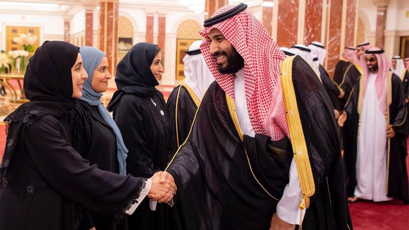 Saudi Arabien: Der saudische Kronprinz Mohammed bin Salman auf einer Konferenz in Dschidda