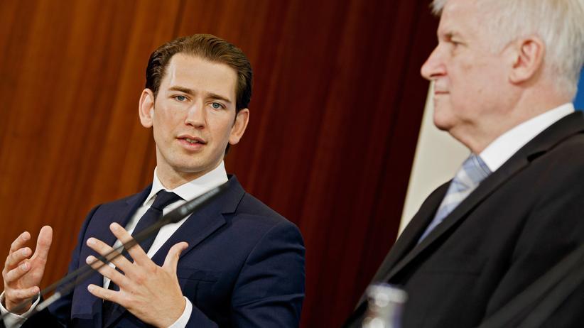 Sebastian Kurz: Auf einer Achse in Sachen Asylpolitik: Sebastian Kurz und Innenminister Horst Seehofer