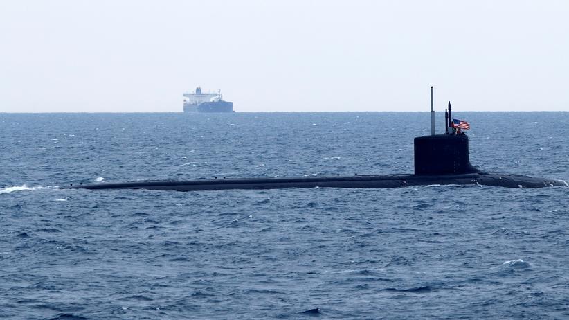 Cyberspionage: Das U-Boot der US-Marine New Mexico während einer Übungsfahrt für die Nato