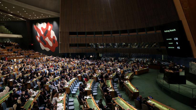 Nahostkonflikt: UN-Vollversammlung verurteilt Israel für Gewalt in Gaza